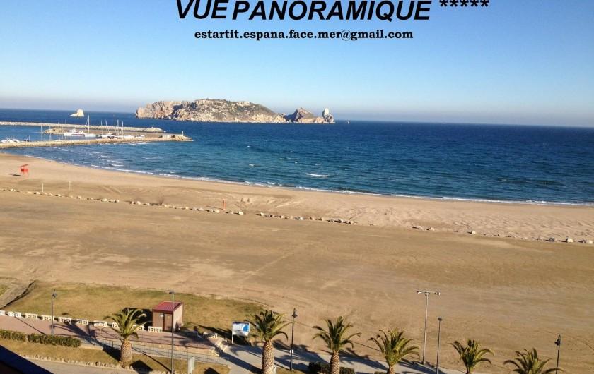 Location de vacances - Appartement à L'Estartit - Vue Panoramique de l'appartement et de la terrasse avant
