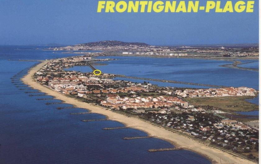 Location de vacances - Maison - Villa à Frontignan - nous sommes là, entre mer et étang ! au fond, la colline de Sète