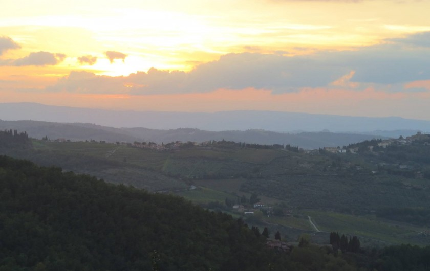 Location de vacances - Appartement à Greve in Chianti - Vue sur les collines de chianti