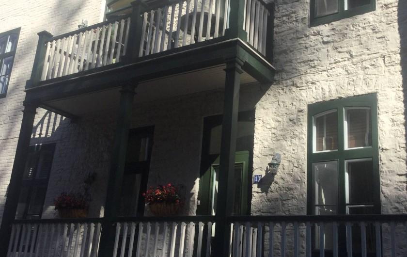 Location de vacances - Chambre d'hôtes à Ville de Québec - Chambre avec deux lits double et vue panoramique sur le lac.