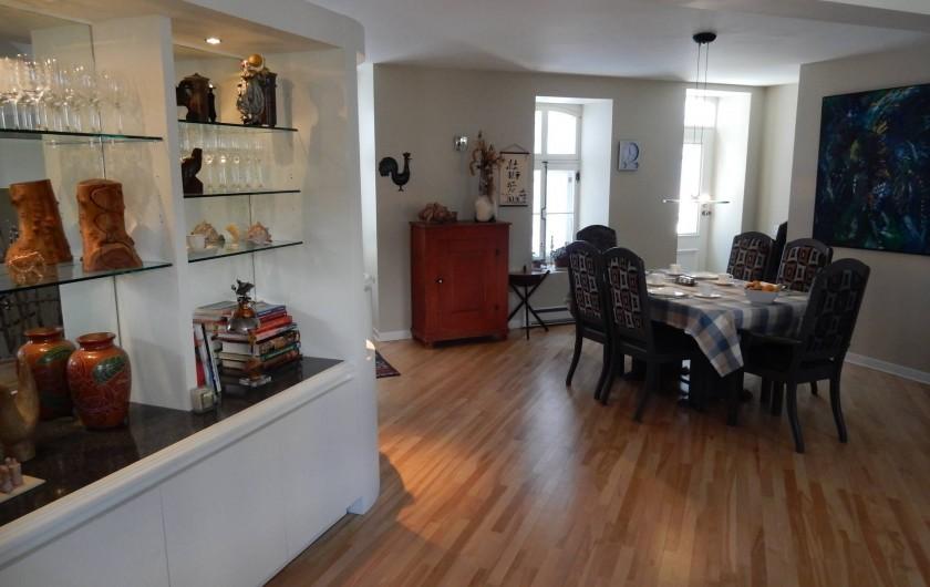 Location de vacances - Chambre d'hôtes à Ville de Québec - Photo de notre salle à manger à notre B& B de Québec.