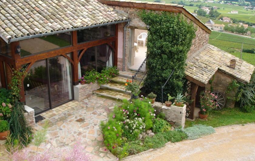 Location de vacances - Gîte à Juliénas - GITE VU DU DESSUS