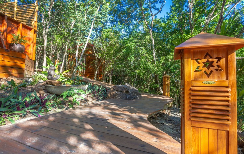 Location de vacances - Cabane dans les arbres à Deshaies