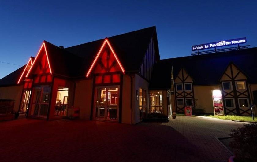 Location de vacances - Hôtel - Auberge à Franqueville-Saint-Pierre - VUE DE NUIT