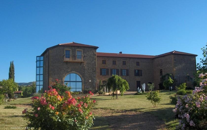 Location de vacances - Chambre d'hôtes à Saint-Laurent-d'Oingt - Notre maison: l'Orée du Paradis