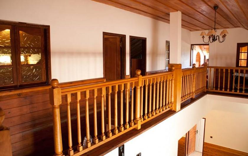 Location de vacances - Villa à Saint-Pierre - coursive desservant les 4 chambres à 'étage