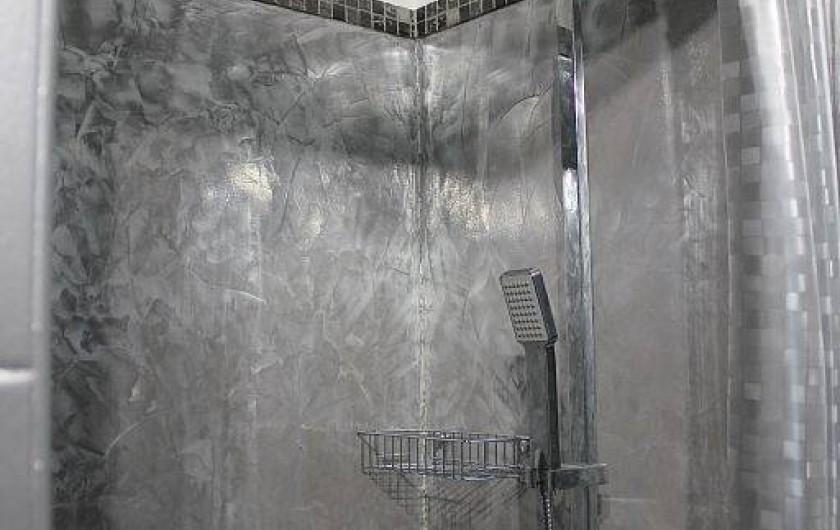 Location de vacances - Studio à L'Isle-sur-la-Sorgue - La douche en béton ciré