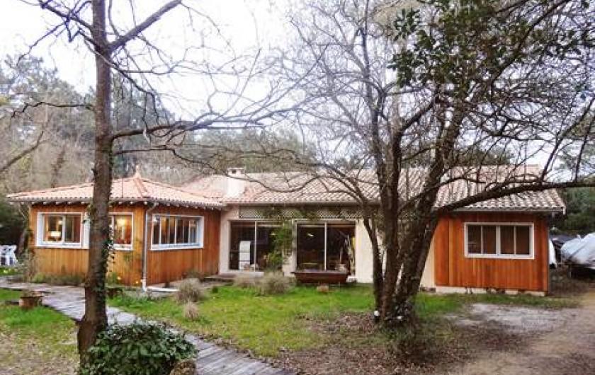 Location de vacances - Villa à Le Cap Ferret - Vue d'ensemble de la maison (en hiver)