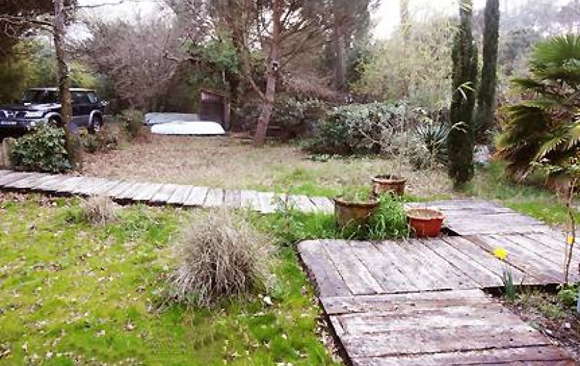 Location de vacances - Villa à Le Cap Ferret - Grand jardin de 1700 m2 (en hiver)