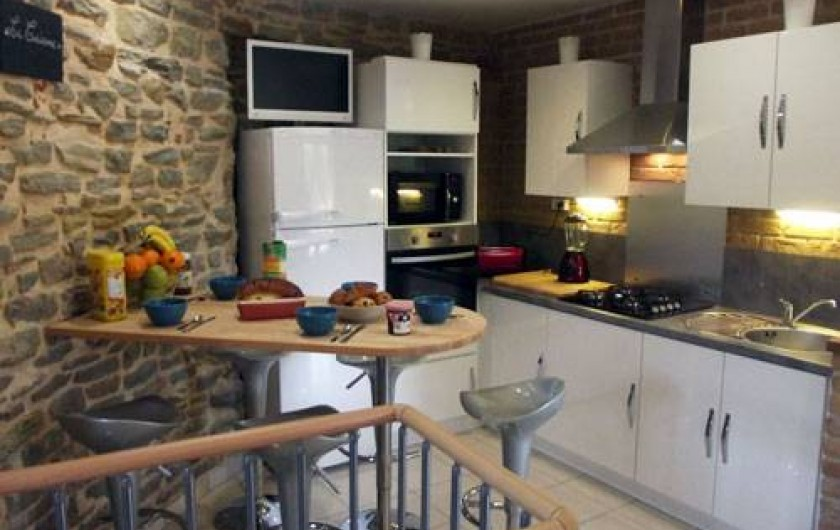 Location de vacances - Insolite à Baincthun - La cuisine, coté petit déjeuner