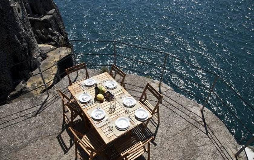 Location de vacances - Villa à Furore - La terrasse