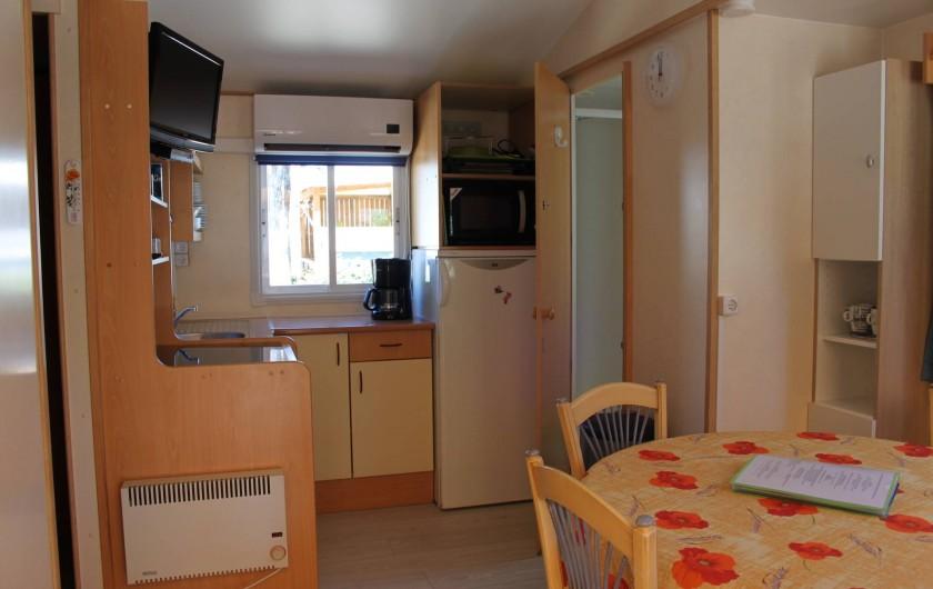 Location de vacances - Bungalow - Mobilhome à Saint-Aygulf - Coin cuisine