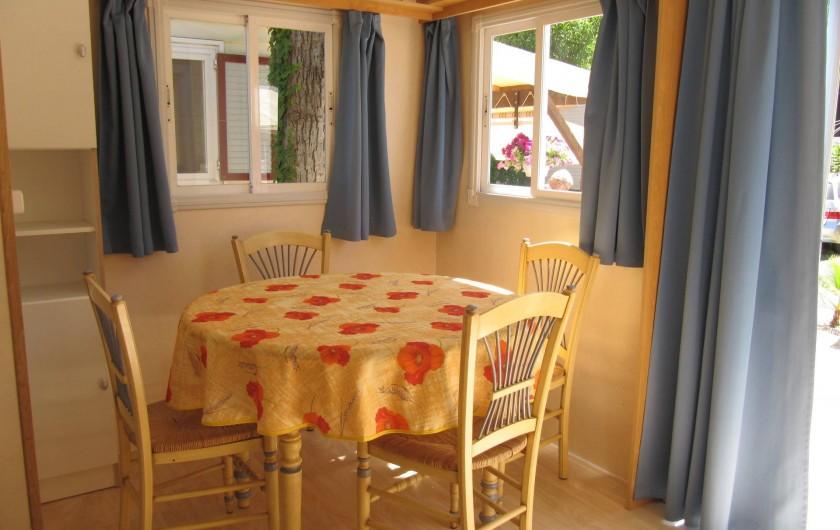 Location de vacances - Bungalow - Mobilhome à Saint-Aygulf - Coin repas