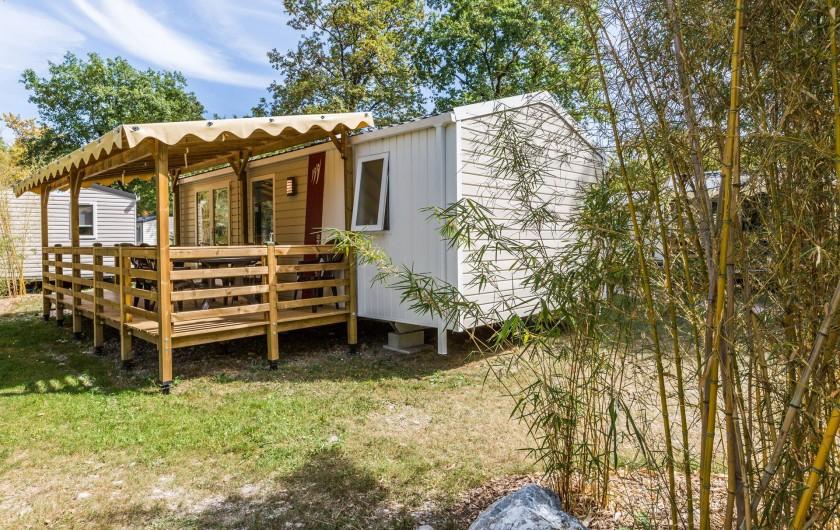Location de vacances - Bungalow - Mobilhome à Thonon-les-Bains - vue de l'extérieur du mobilhome