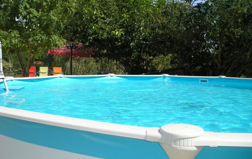 Location de vacances - Gîte à La Sauvetat-du-Dropt - La piscine 5,50 m de diamètre