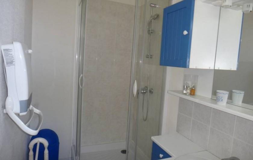 Location de vacances - Maison - Villa à Saint-Malo - Salle d'eau ave douches et WC , au rez-de-chaussée.