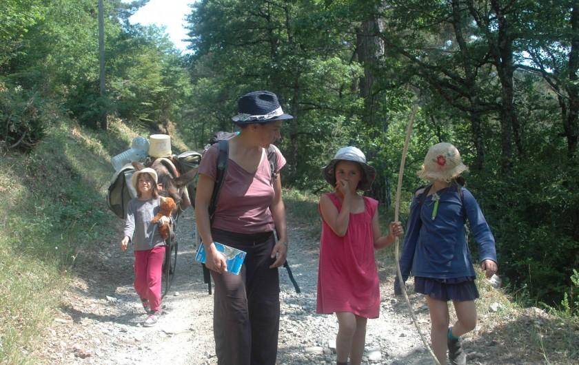 Location de vacances - Camping à Meyrueis - une autre façon de découvrir la région:ballade avec nod ânes