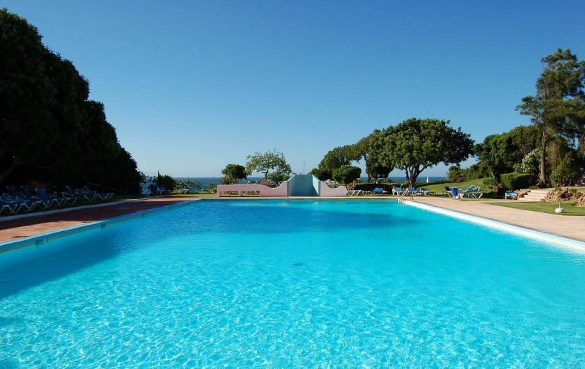 Location de vacances - Villa à Porches - Grande piscine eau de mer en bordure du restaurant