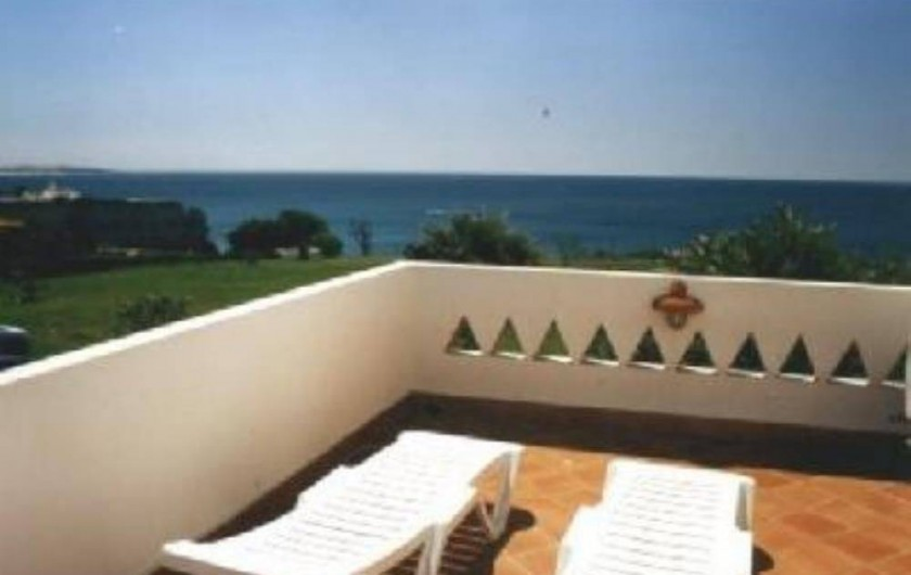 Location de vacances - Villa à Porches - Terrasse avec vue panoramique sur l'océan