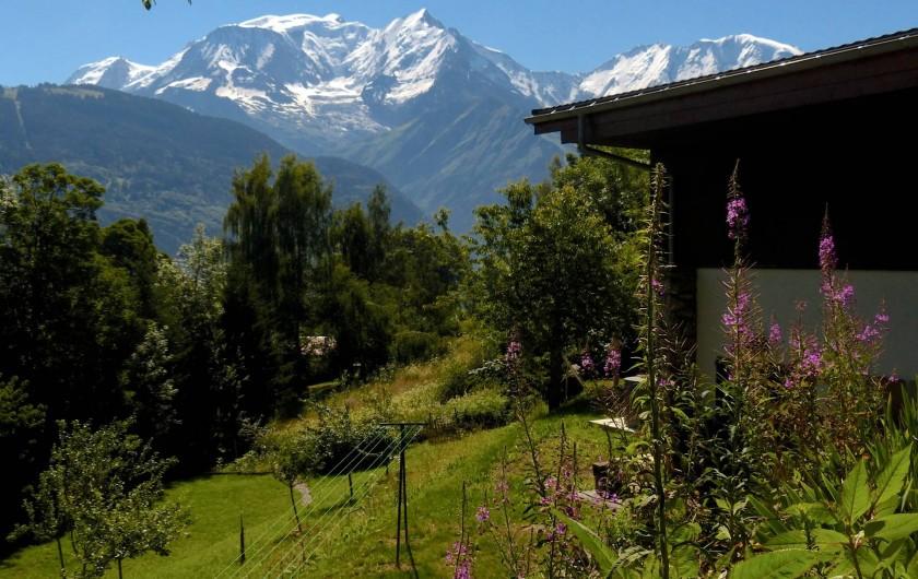 Location de vacances - Chalet à Saint-Gervais-les-Bains - Chalet l'été