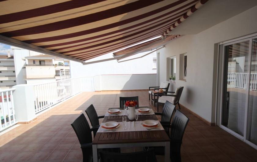 Location de vacances - Appartement à Oropesa del Mar - Grande terrasse Atico