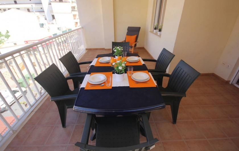Location de vacances - Appartement à Oropesa del Mar - Terrassse appt 4/5