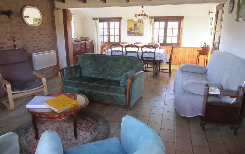 Location de vacances - Gîte à Recques-sur-Hem - Le salon/salle à manger