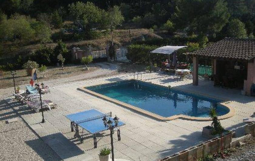 Location de vacances - Studio à Roquefort-la-Bédoule - Ve Piscine