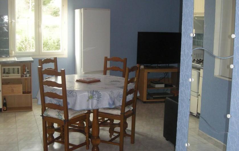 Location de vacances - Studio à Roquefort-la-Bédoule - Table repas