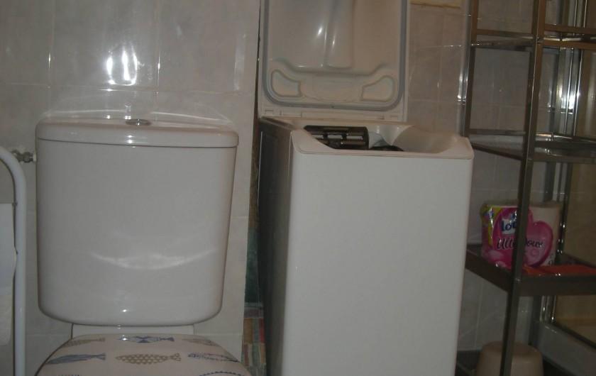 Location de vacances - Studio à Roquefort-la-Bédoule - WC et machine a laver