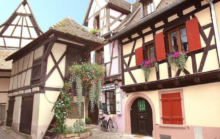 Location de vacances - Gîte à Eguisheim - Façade avant, avec le Pigeonnier