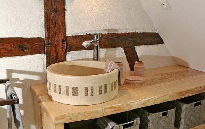 Location de vacances - Gîte à Eguisheim - Salle de bain de la suite parentale