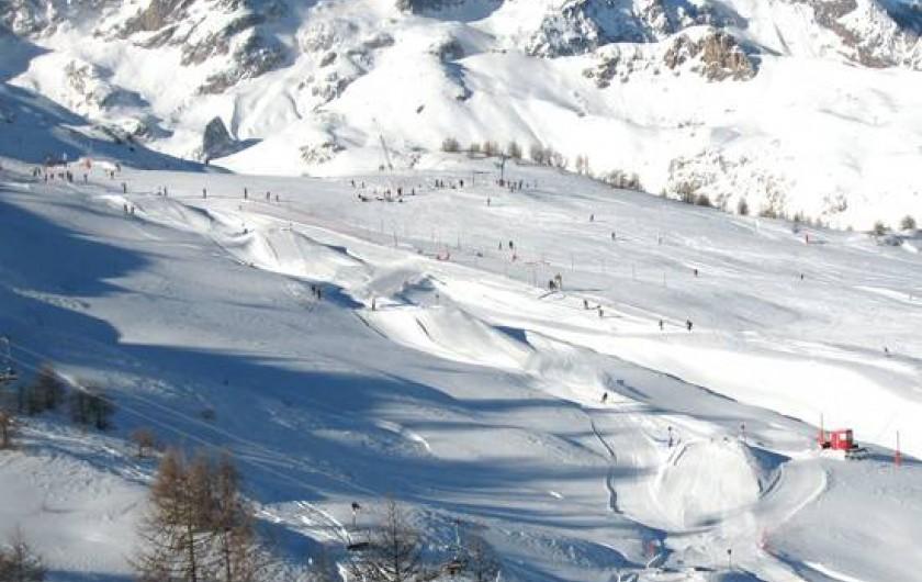 Location de vacances - Appartement à Saint-Chaffrey - Le domaine skiable