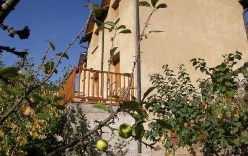 Location de vacances - Maison - Villa à Sainte-Énimie - La terrasse surplombant la vallée