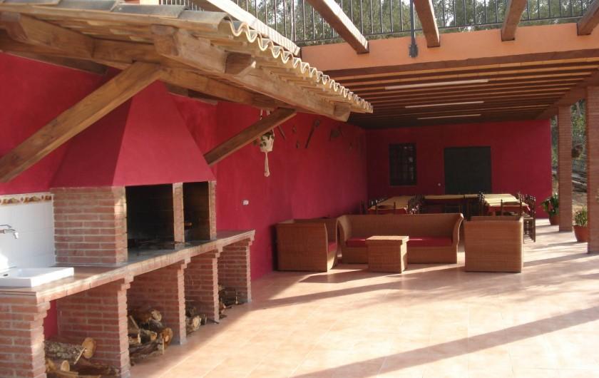 Location de vacances - Mas à Maçanet de la Selva - Zona Barbacoa