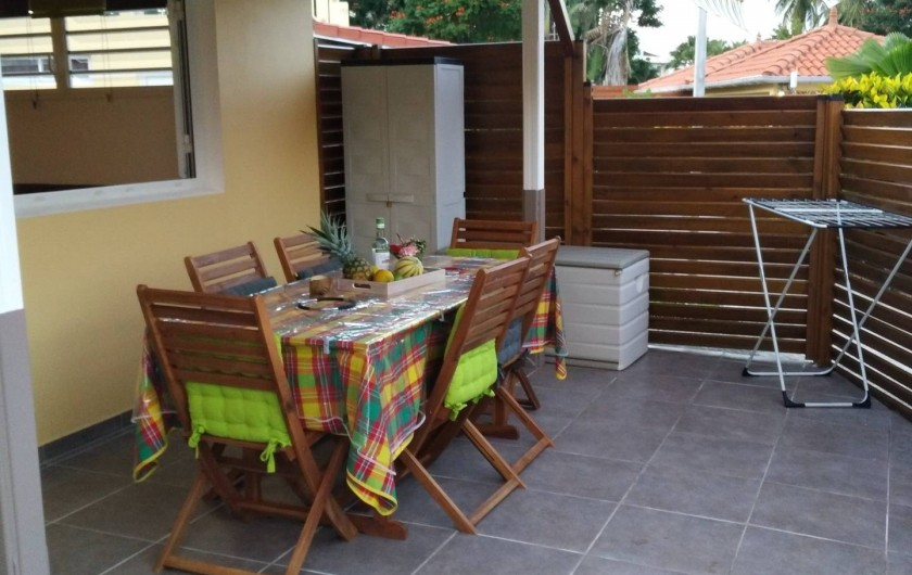 Location de vacances - Studio à Les Trois-Îlets - La terrasse