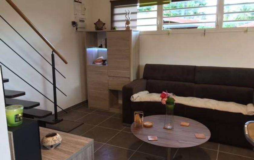 Location de vacances - Studio à Les Trois-Îlets - Le salon séjour