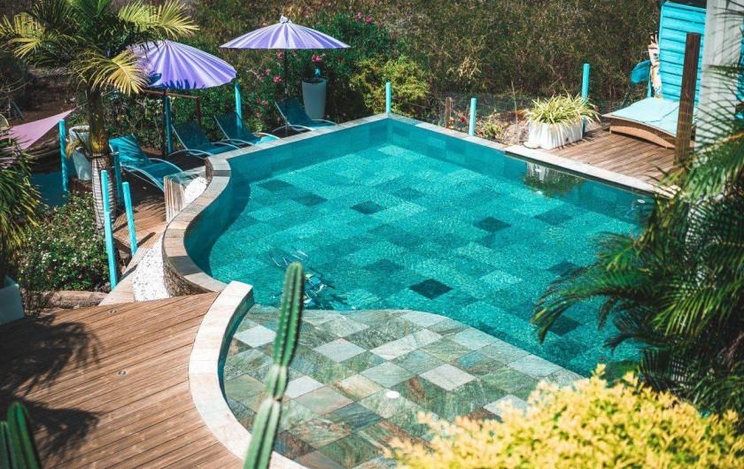 Location de vacances - Studio à Saint-Leu - l'espace piscine
