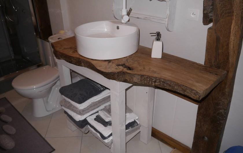 Location de vacances - Gîte à La Rosière - salle d'eau étage, wc,cabine de douche