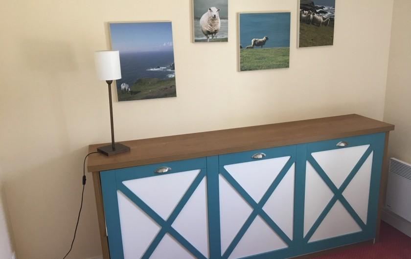 Location de vacances - Villa à Quend Plage - meuble formant lit banquette 1 adulte repliable