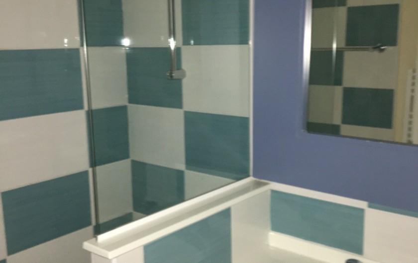 Location de vacances - Villa à Quend Plage - salle debain avec lavabo et baignoire/douche