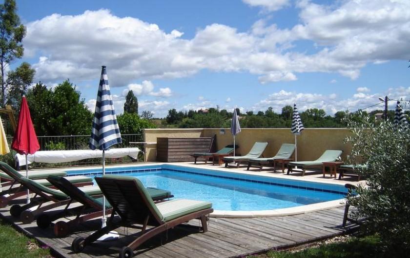 Location de vacances - Villa à Saint-Julien-de-Cassagnas - La piscine
