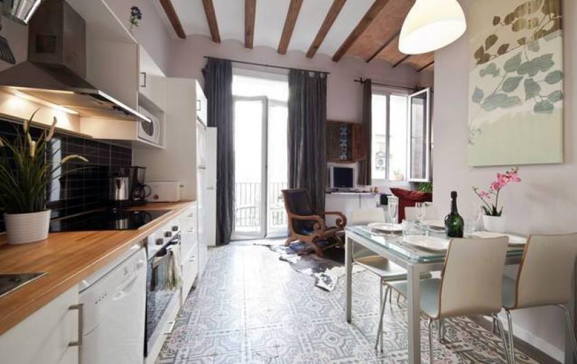 Location de vacances - Appartement à Barcelone - Cuisine Living room