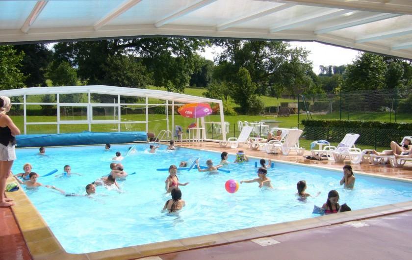 Location de vacances - Camping à Lyons-la-Forêt - Piscine chauffée