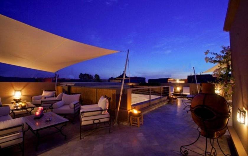 Location de vacances - Riad à Marrakech - Terrasse