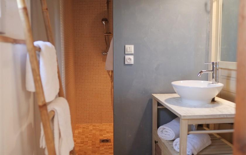 Location de vacances - Gîte à L'Isle-sur-la-Sorgue - grande douche à l'italienne