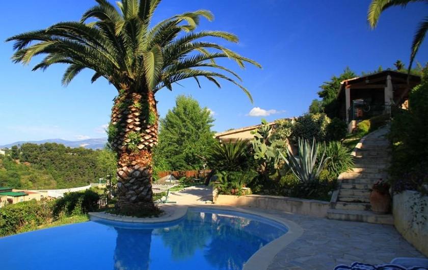 Location de vacances - Studio à Cagnes-sur-Mer - Coin des studios au niveau de la piscine