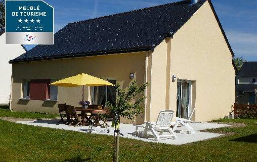 Location de vacances - Villa à Saint-Briac-sur-Mer - Arrière de la maison ( jardin clos )