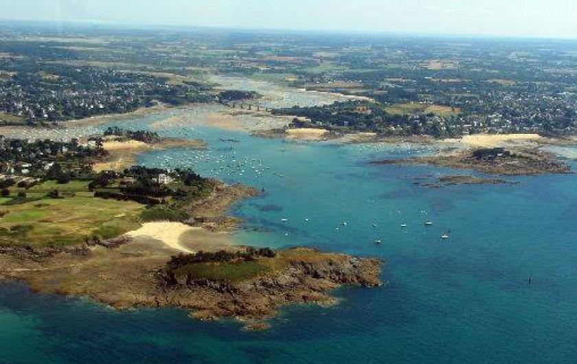 Location de vacances - Villa à Saint-Briac-sur-Mer - St Briac  vue d'avion ...