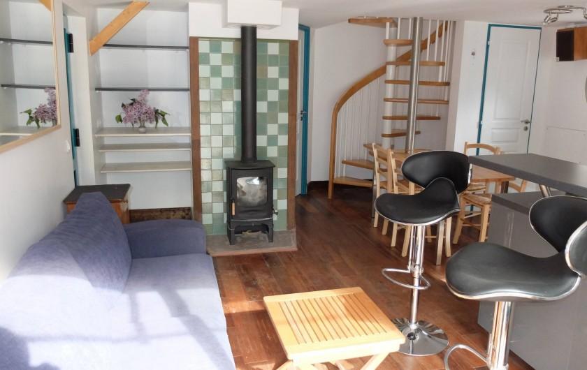 Location de vacances - Chalet à Plouër-sur-Rance - Le salon, la pièce de vie